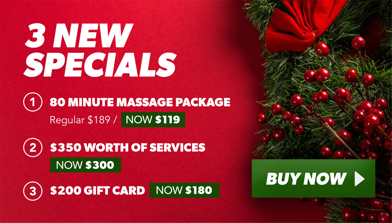 3 new specials. Click for more information on spa packages.